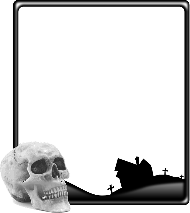 Skull Frame Halloween · Free vector graphic on Pixabay