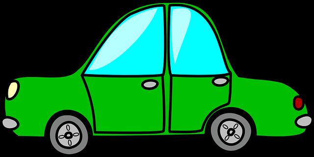 รถ สีเขียว อัตโนมัติ · กราฟิกแบบเวกเตอร์ฟรีบน Pixabay
