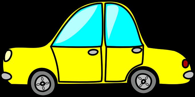 Car, Taxi Cab, Cab, Yellow, Vehicle