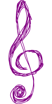 Clef, Music, Purple, Treble, Note