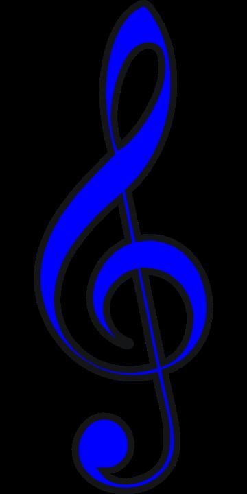 kostenlose vektorgrafik notenschl ssel trebble blau kostenloses bild auf pixabay 303709. Black Bedroom Furniture Sets. Home Design Ideas