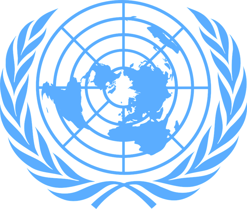 united nations blue logo 183 free vector graphic on pixabay