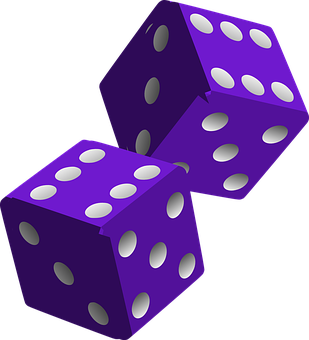 Dice, Die, Purple, Game, Play, Gaming