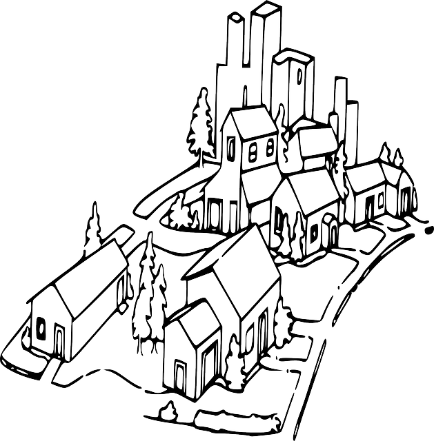 Free vector graphic: Neighborhood, Homes, Community - Free ...