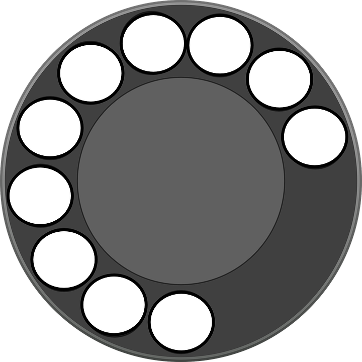 Rotary Dial Phone - Free vector graphic on Pixabay