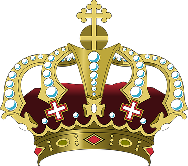 Crown Cross Palace Royal King Queen P