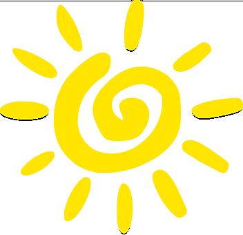 Słońce, Żółty, Spirala, Lato, Design