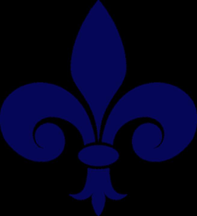 Fleur De Lis Heraldry Navy Free Vector Graphic On Pixabay