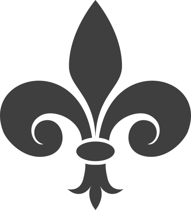 Fleur De Lis Heraldry Gray Free Vector Graphic On Pixabay