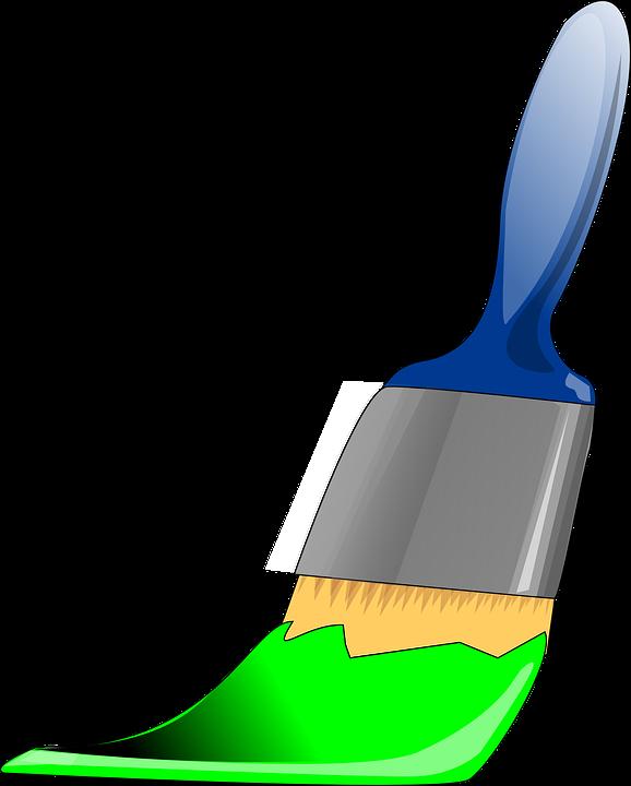 image vectorielle gratuite peinture pinceau vert. Black Bedroom Furniture Sets. Home Design Ideas