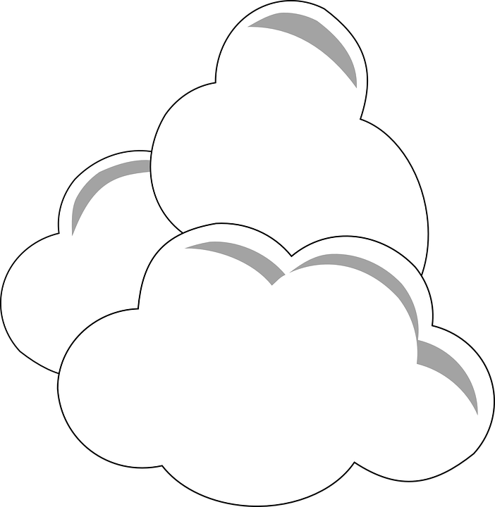 clouds white three free vector graphic on pixabay clouds white three free vector