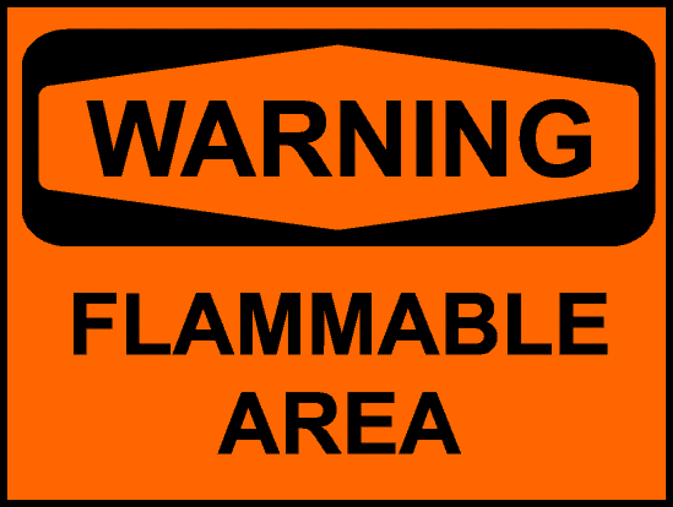 Sign Warning Flammable Free Vector Graphic On Pixabay