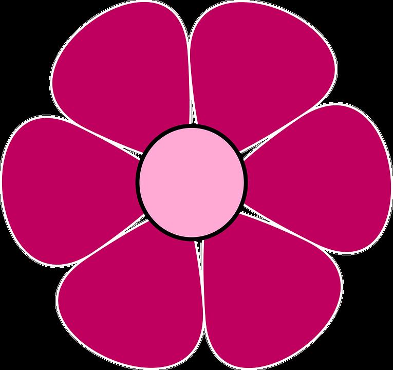 Цветок с лепестками картинка для детей