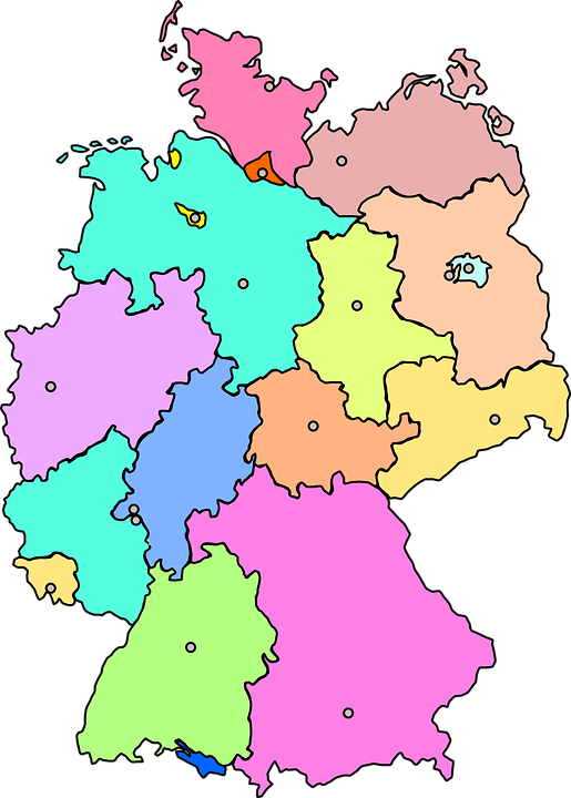 Free Photo Map Germany Berlin Capital Image On Pixabay: Map Of Germany With States And Capitals At Infoasik.co