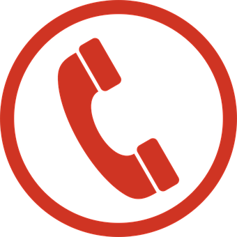Telephone Sign Symbol Icon Red Phone
