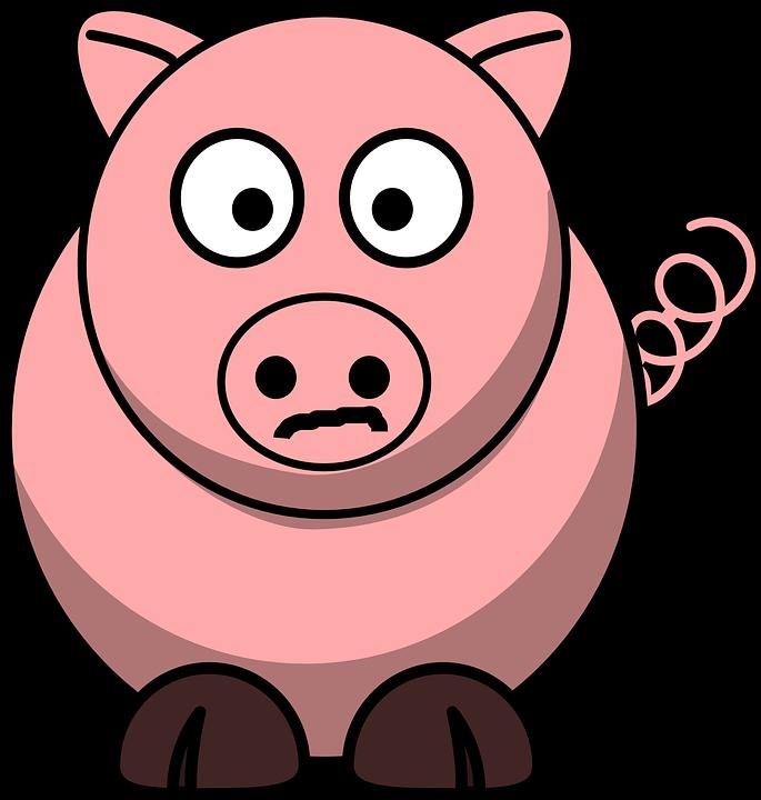 Image vectorielle gratuite cochon de porc porc dessin - Dessin cochon mignon ...