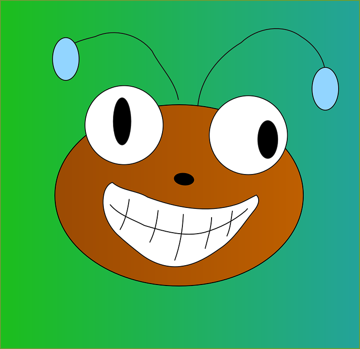Ant, Bug, Insect, Animal, Face, Happy, Antennae