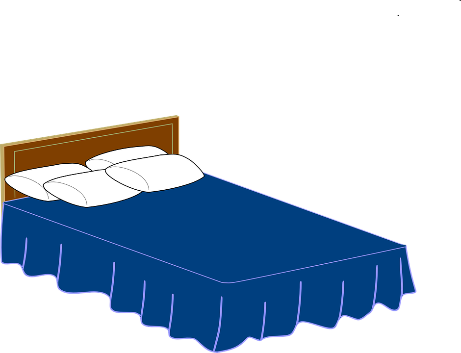 Free vector graphic: Bed, Pillows, Headboard, Bedding ...