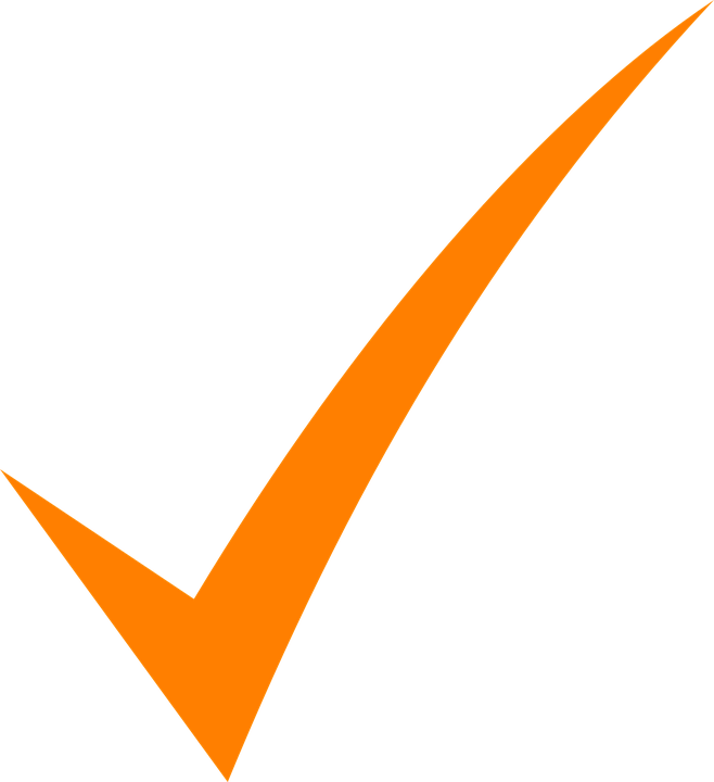 Check Mark Orange - Free vector graphic on Pixabay