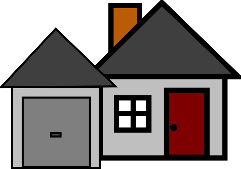 Free vector graphic: House, Garage, Home, Residential ... House Graphic Png