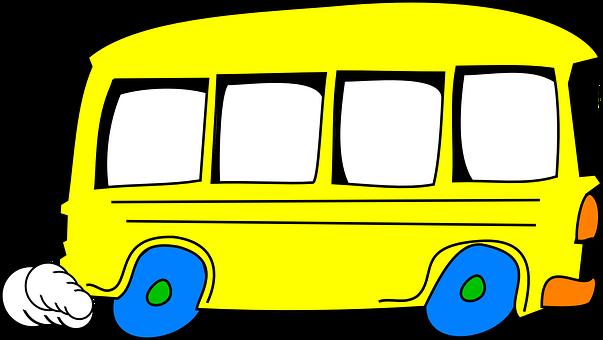 Schoolbus, Keltainen, Ajo, Sarjakuva
