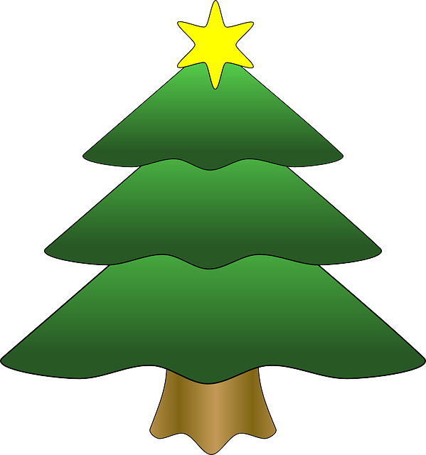Tree christmas star free vector graphic on pixabay - Sapin clipart ...