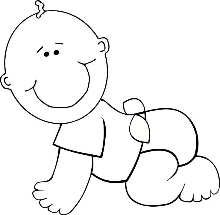 Baby Cartoon Smiling Free Vector Graphic On Pixabay