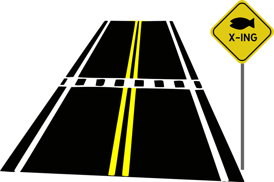 Walking In A Straight Line Clipart : Road crossing crosswalk · free vector graphic on pixabay