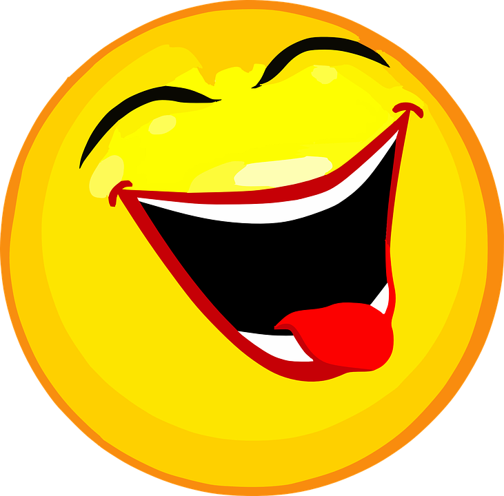 smiley laughing face free vector graphic on pixabay rh pixabay com cartoon laughing smiley face Crying Laughing Face Cartoon