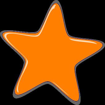 Stjerne, Form, Blank, 5-Takkede
