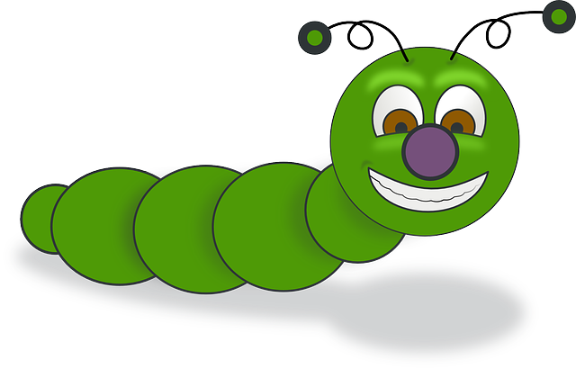 how to draw a cute worm