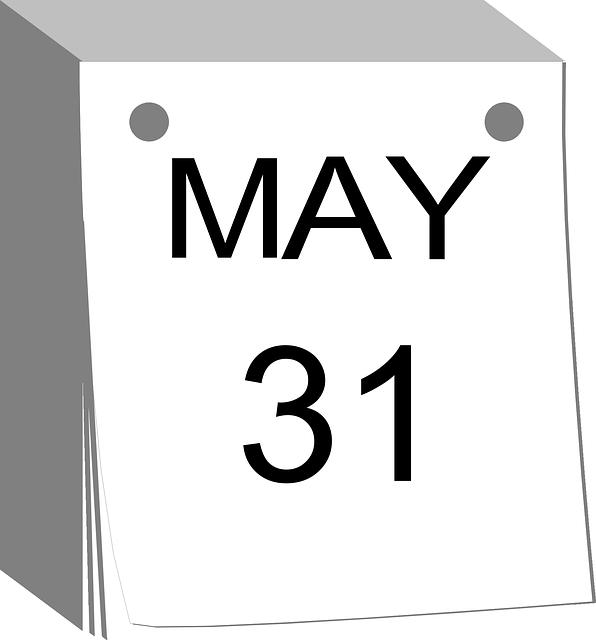 Calendar May Png : Calendrier détachable date de · images vectorielles