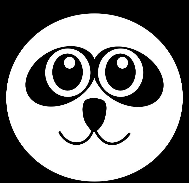 Gambar vektor gratis Panda Kepala Lucu Kartun Gambar