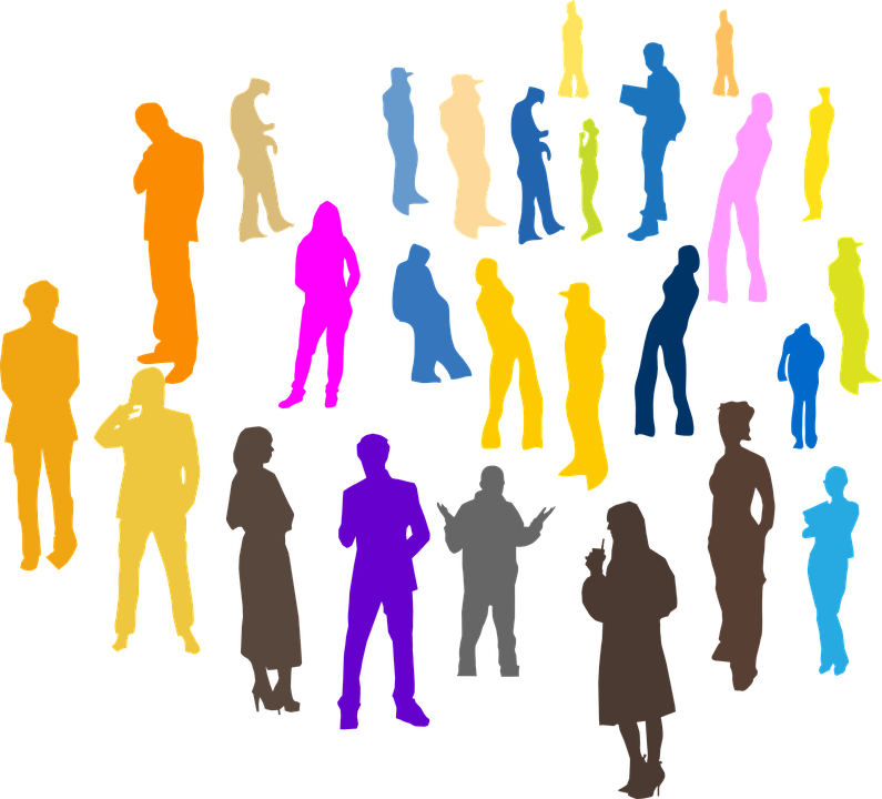 people crowd individuals  u00b7 free vector graphic on pixabay group of people clip art bible Clip Art Cartoon Group of People