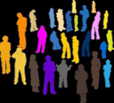 人, 群衆, 個人, グループ, チーム, 立っている, コミュニティ, 一緒に