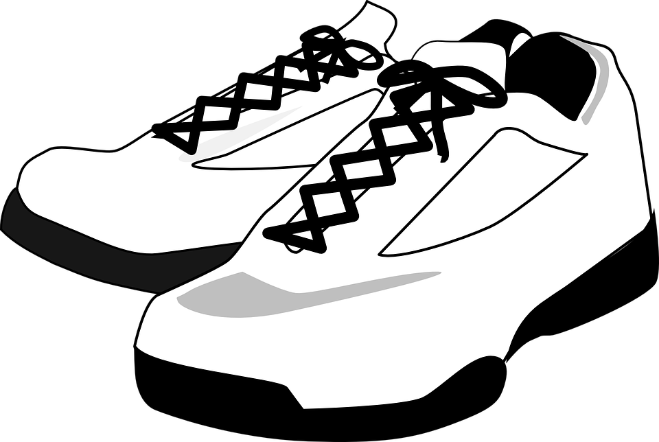 sneakers tennis shoes footwear free vector graphic on pixabay rh pixabay com Cartoon Tennis Shoes Running Cartoon Tennis Shoes Running