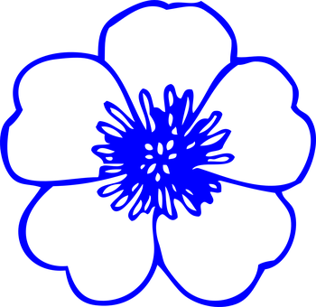 Flower outline images pixabay download free pictures flower buttercup blue outline spring mightylinksfo Gallery