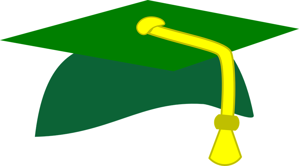 Image result for graduation cap green graphic free