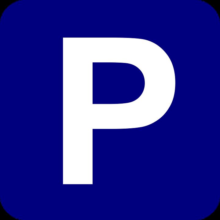 Parking, Podpisać, Niebieski, Marynarka Wojenna