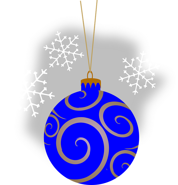 Bauble Blue Christmas Holiday Ornament Decorative