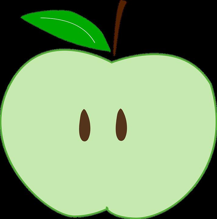 green apple slices png. green, apple, slice, fruit, seeds green apple slices png s