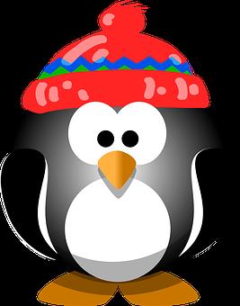 Penguin Bird Hat Winter Cute Animal Cold S