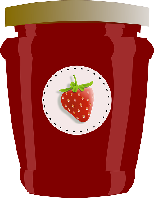 Strawberry Jar Jam · Free Vector Graphic On Pixabay
