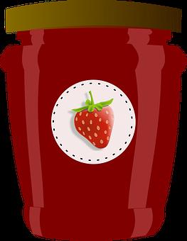 Strawberry, Jar, Jam, Jelly, Preserves