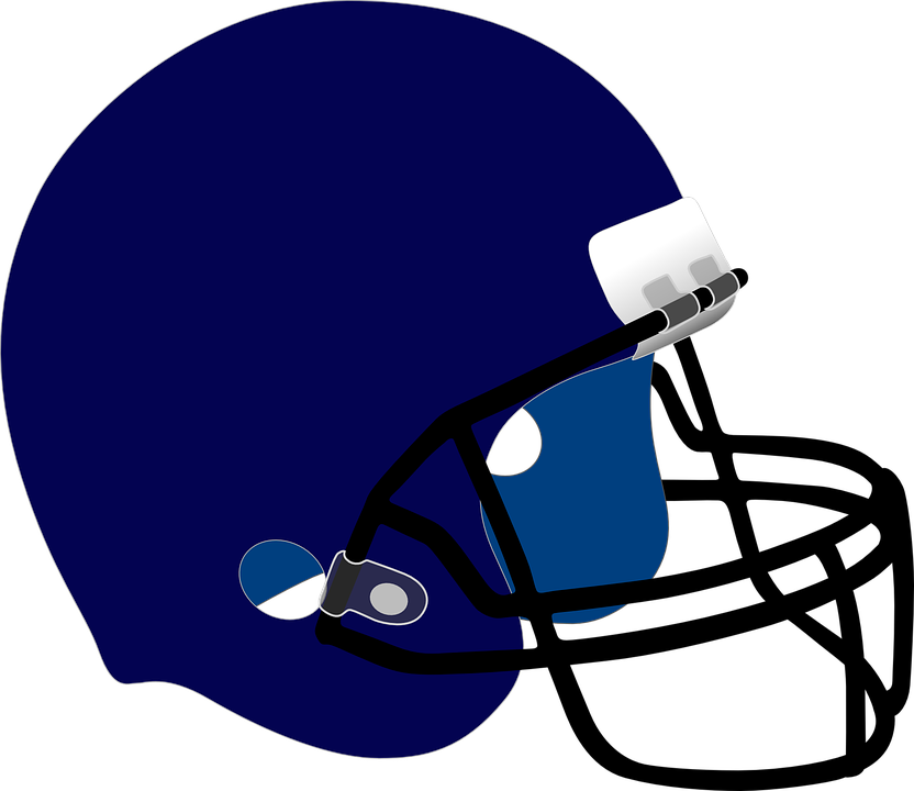 Blue, Safety, Protection, Football, Helmet, Guard, Nfl