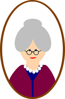 Old Female Woman Face Person Grandma Senio