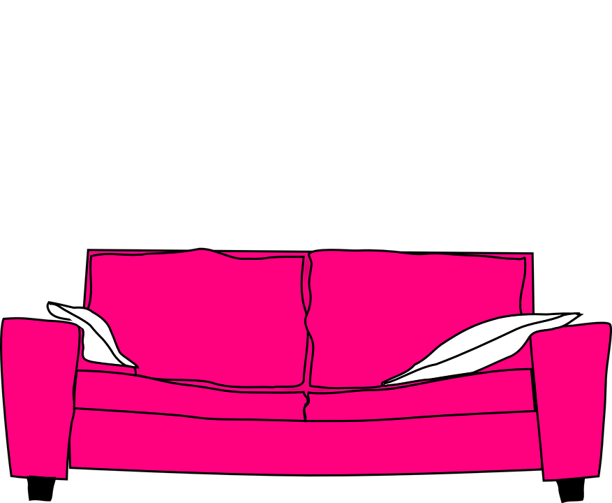 Pleasing Pink Furniture Couch Free Vector Graphic On Pixabay Bralicious Painted Fabric Chair Ideas Braliciousco