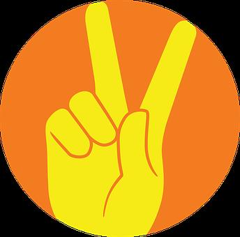 記号, シンボル, 手, 指, 平和記号, 世界平和, 勝利