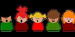 singing, kids, child