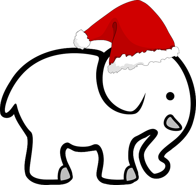 Free vector graphic: White, Elephant, Hat, Christmas - Free Image ...